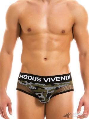Quần lót nam Modus Vivendi Camo C-Through Mesh Brief Khaki