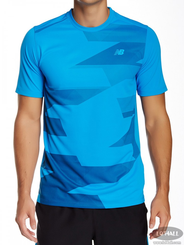 Áo thể thao nam New Balance Challenger Tee Blue