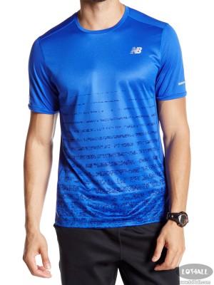 Áo thể thao nam New Balance NB Ice Short Sleeve Tee Blue