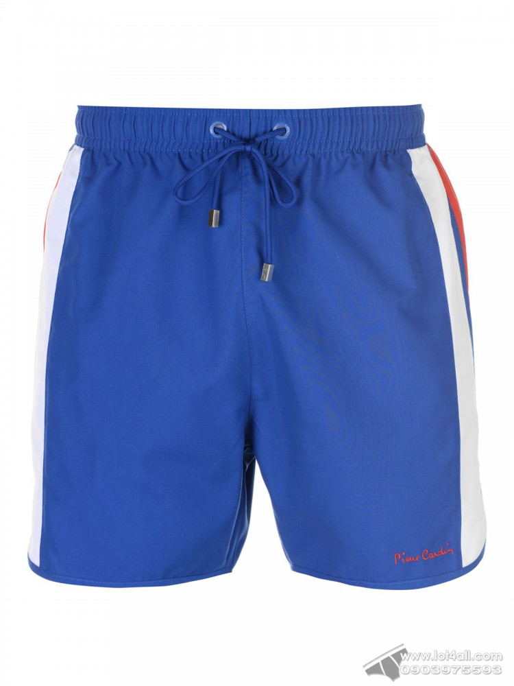 Quần đi biển Pierre Cardin Panelled Swim Short Cobalt/White/Red