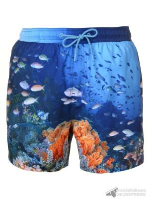 Quần đi biển Pierre Cardin Photo Swim Short Ocean