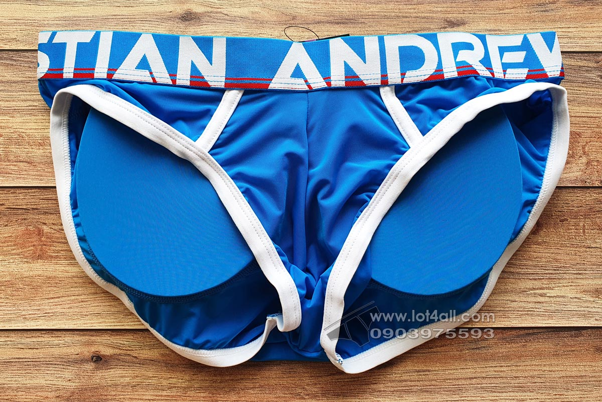 Quần lót nam Andrew Christian 91545 Active Brief w/ Butt Shaping Pads Electric Blue