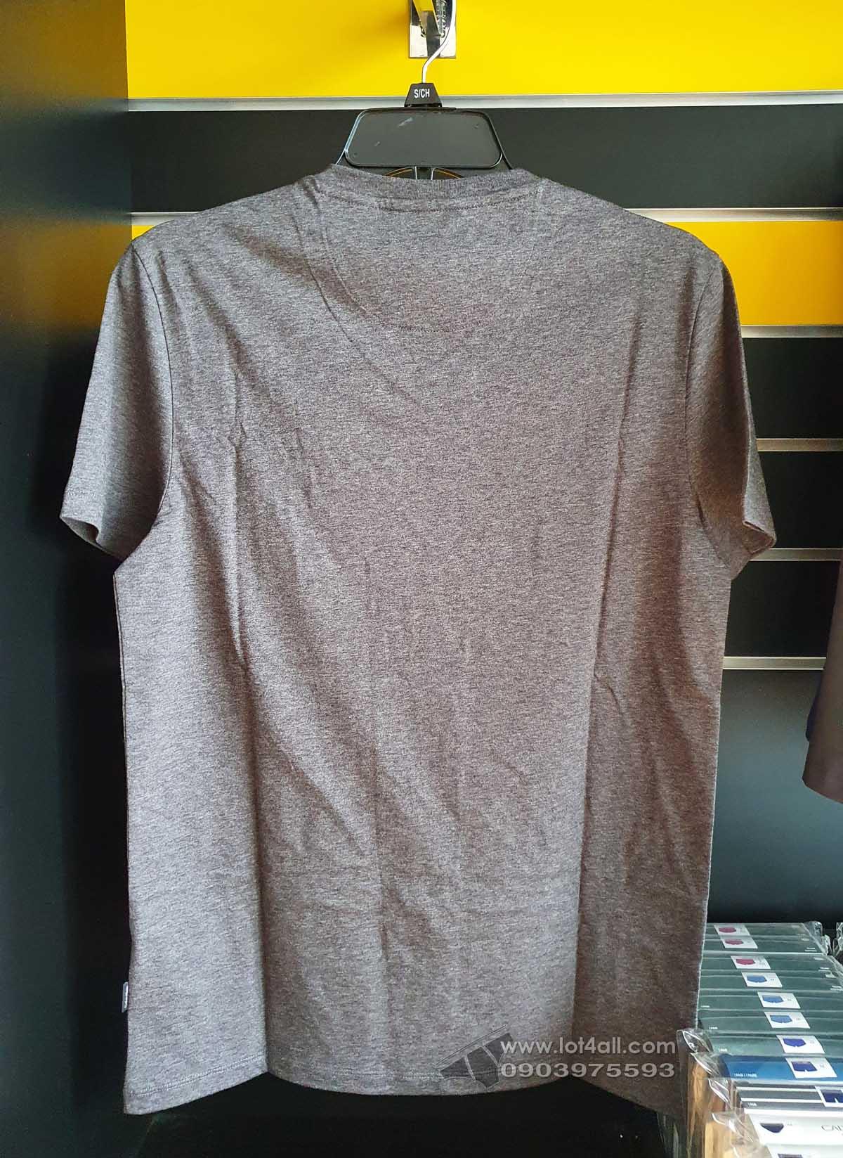 Áo thun nam Calvin Klein 6301 Liquid Touch Slim Fit V-neck T-Shirt Storm Grey