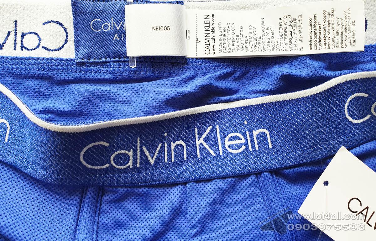 Quần lót nam Calvin Klein NB1005 Air FX Micro Low Rise Trunk Cobalt Water