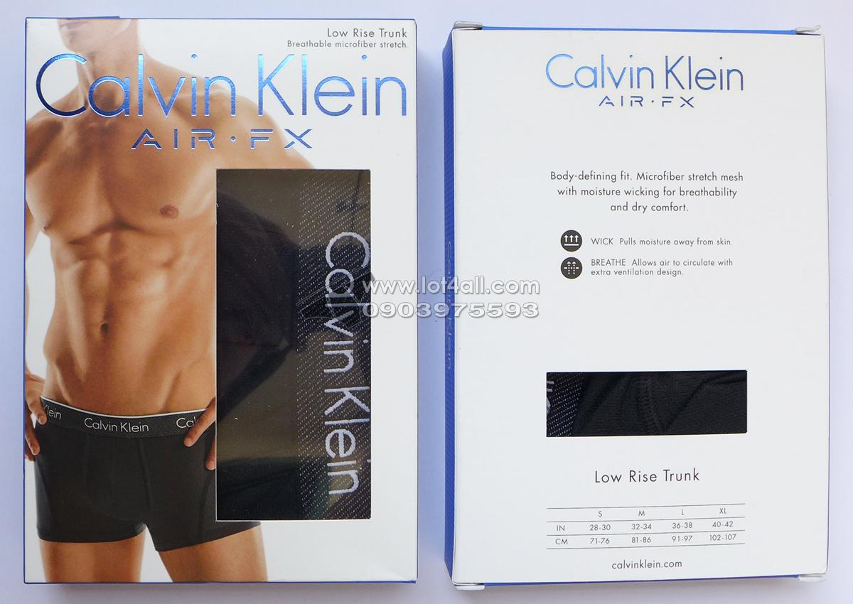 Quần lót nam Calvin Klein NB1005 Air FX Micro Low Rise Trunk Black