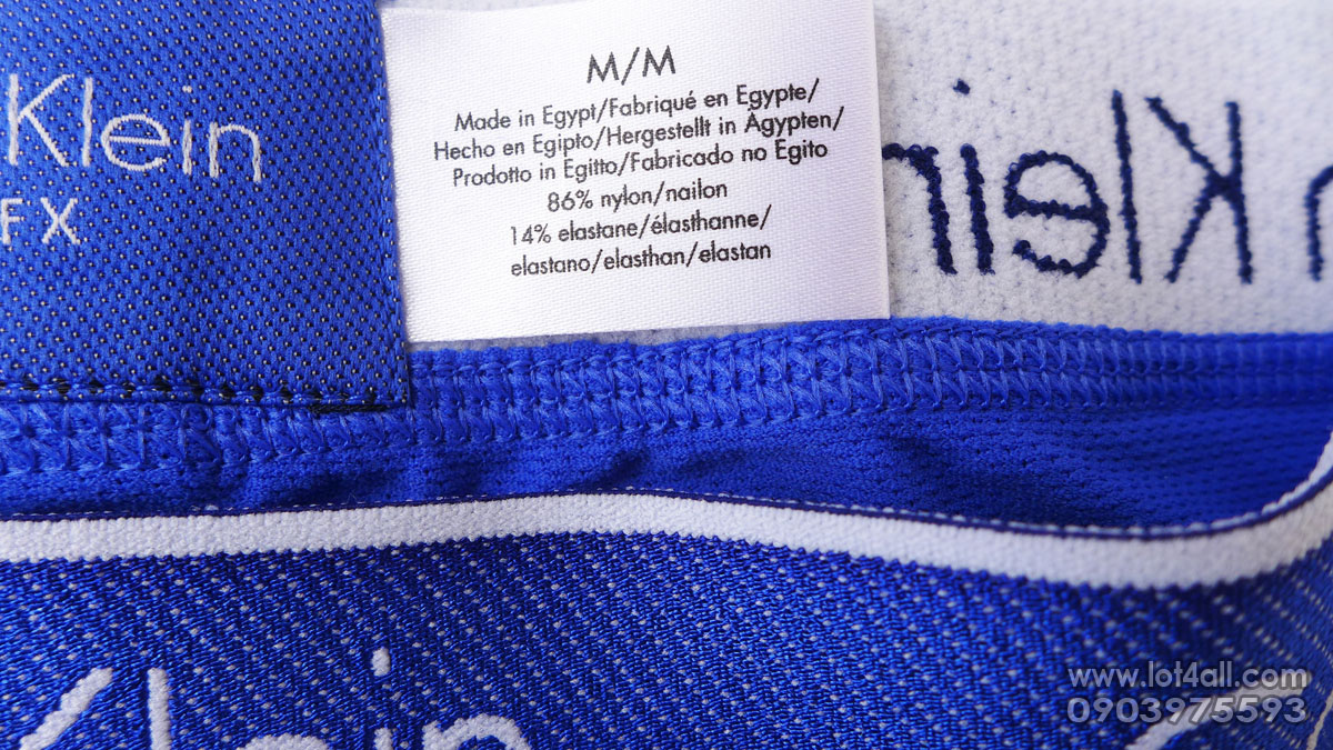 Quần lót nam Calvin Klein NB1007 Air FX Micro Cycle Short Cobalt Water