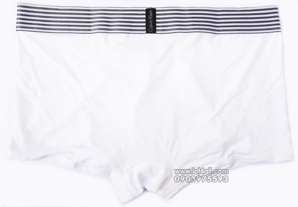 Quần lót nam Calvin Klein NB1021 Iron Strength Micro Low Rise Trunk White