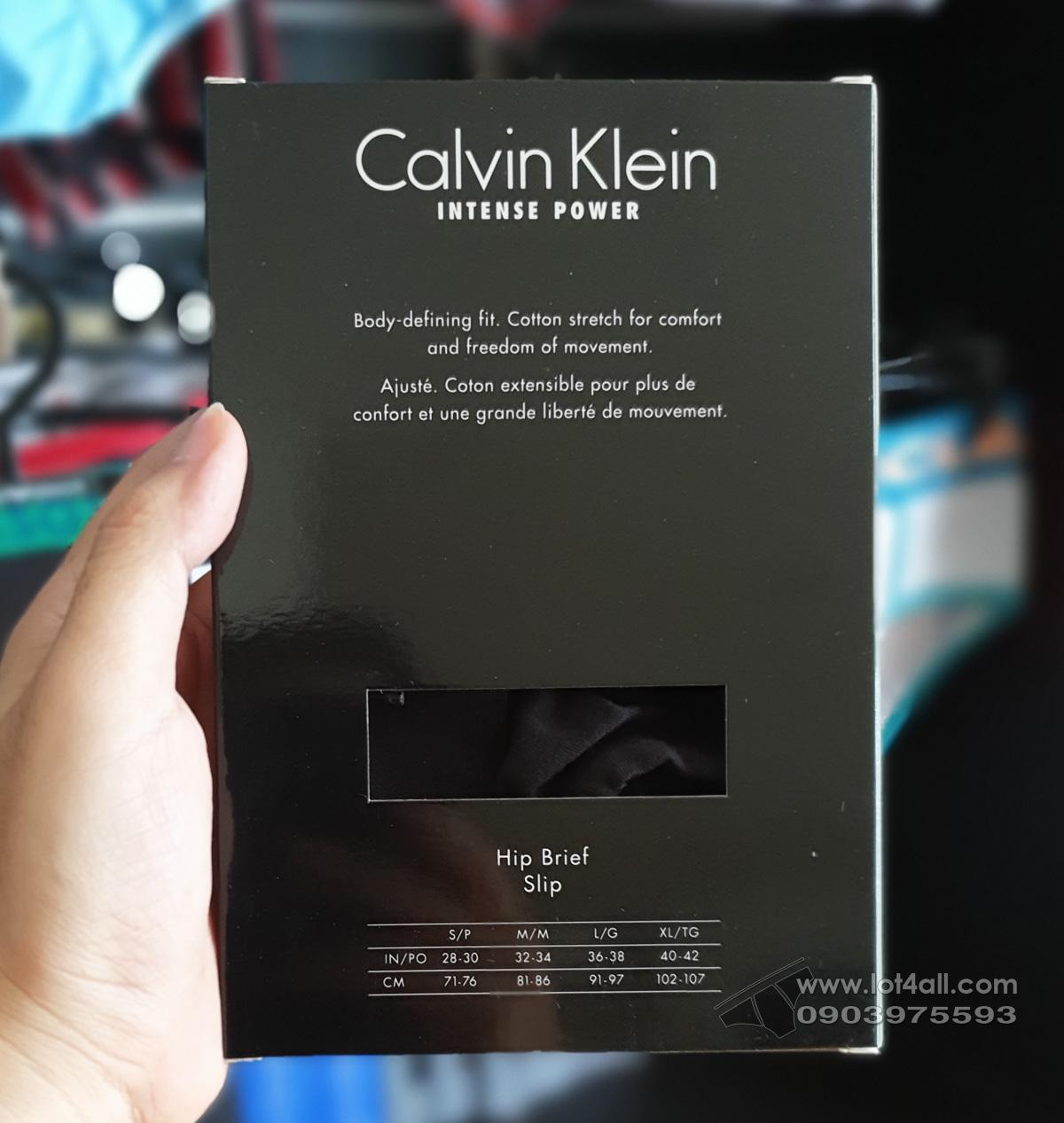 Quần lót nam Calvin Klein NB1040 Intense Power Cotton Hip Brief Black