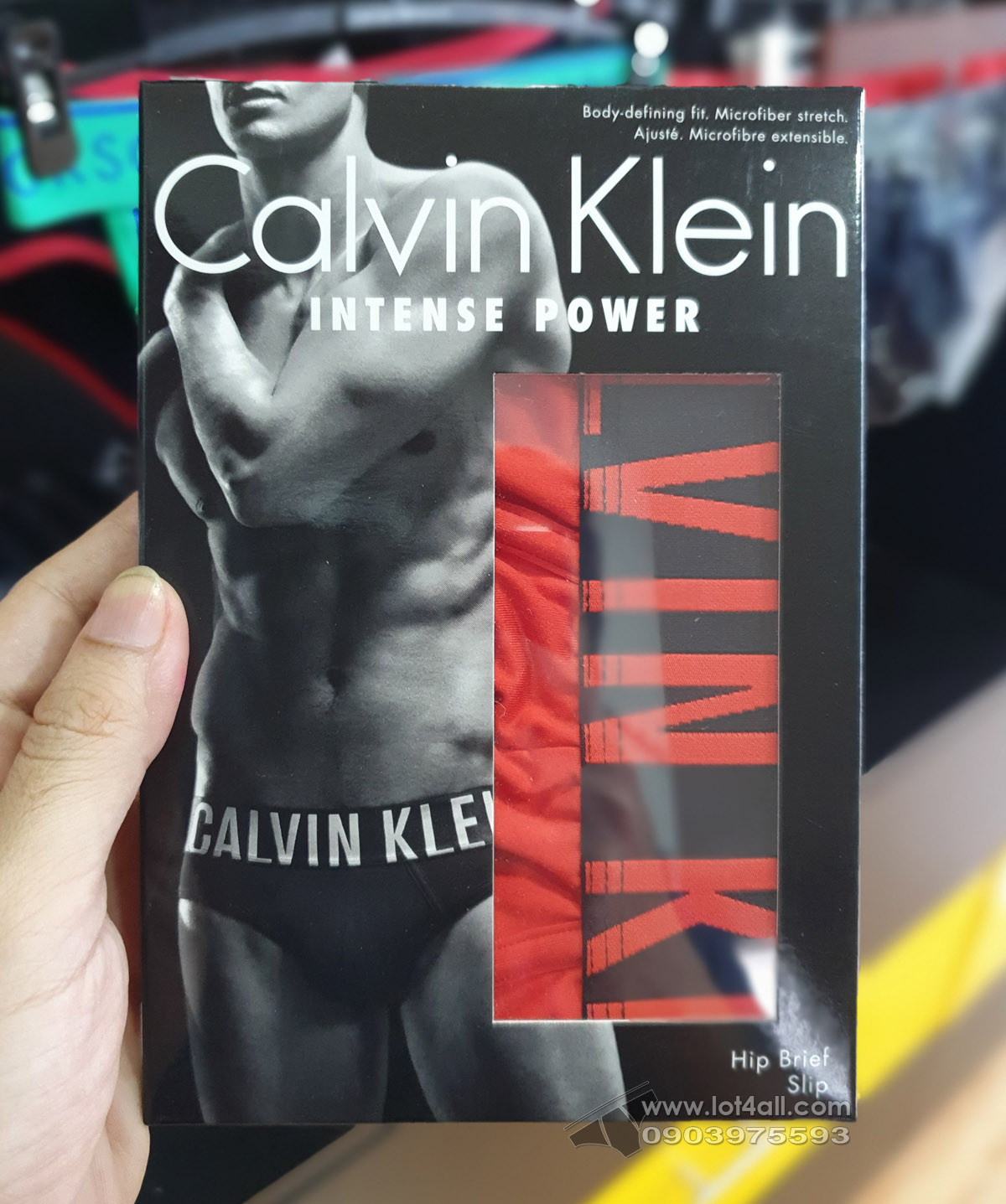 Quần lót nam Calvin Klein NB1044 Intense Power Micro Hip Brief Caution