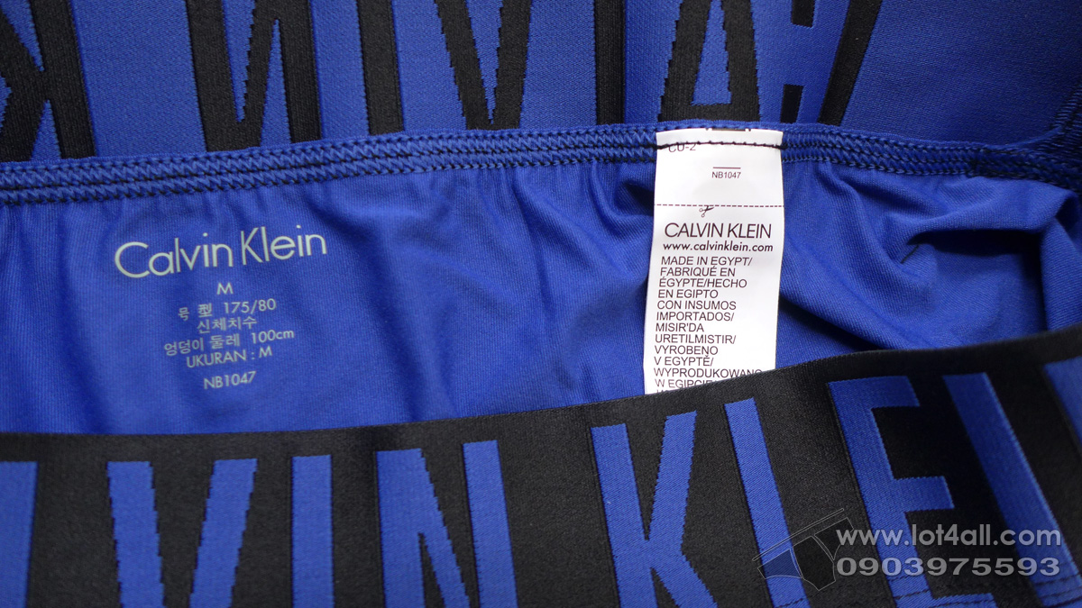 Quần lót nam Calvin Klein NB1047 Intense Power Micro Low Rise Trunk Blue Nova