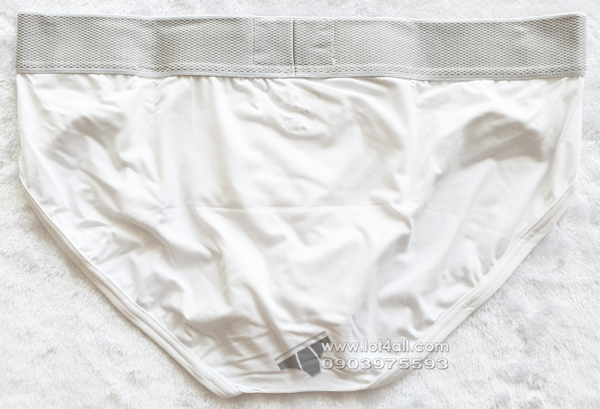 Quần lót nam Calvin Klein NB1294 Customized Stretch Hip Brief White