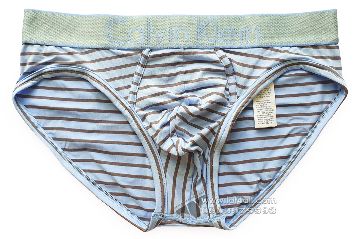 Quần lót nam Calvin Klein NB1294 Customized Stretch Hip Brief Blue Cantrell