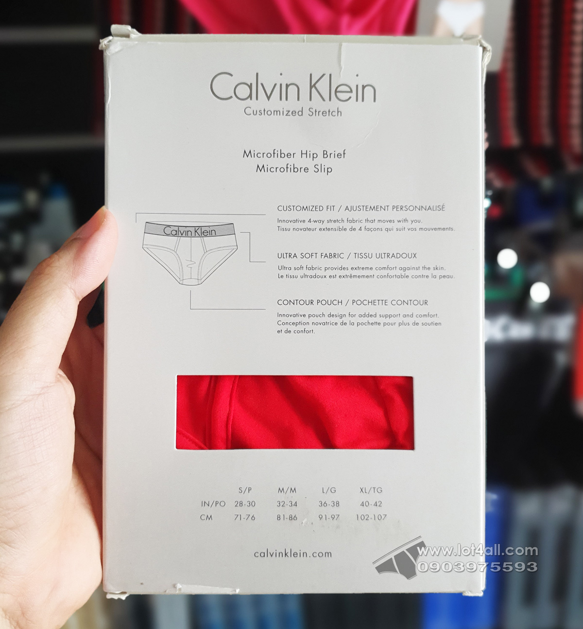 Quần lót nam Calvin Klein NB1294 Customized Stretch Hip Brief Caution