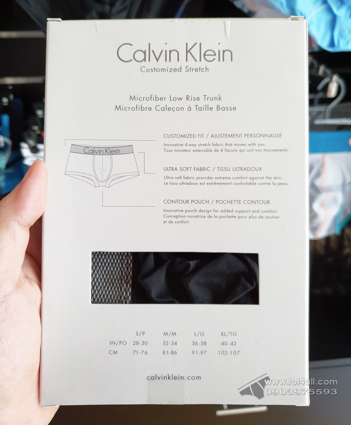 Quần lót nam Calvin Klein NB1295 Customized Stretch Low Rise Trunk Black