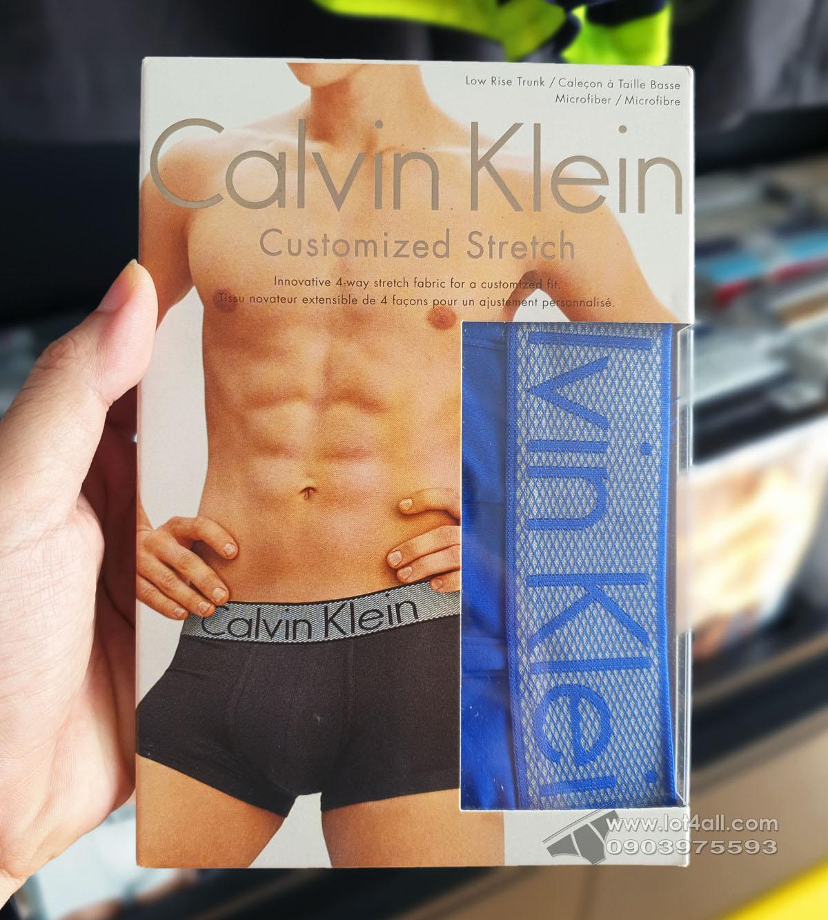 Quần lót nam Calvin Klein NB1295 Customized Stretch Low Rise Trunk Muscari Blue