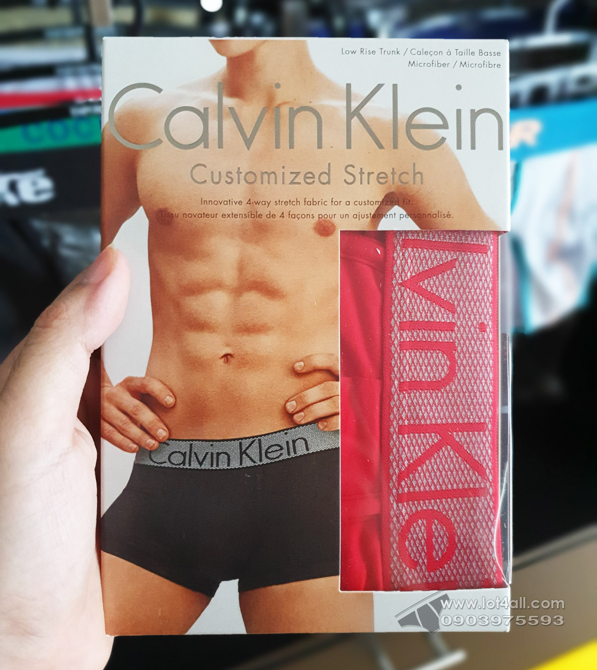 Quần lót nam Calvin Klein NB1295 Customized Stretch Low Rise Trunk Impact