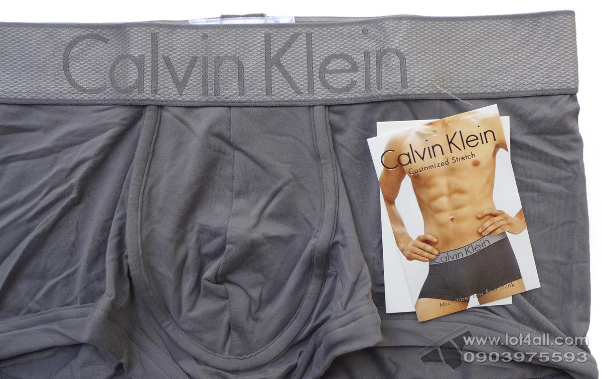 Quần lót nam Calvin Klein NB1295 Customized Stretch Low Rise Trunk Grey Sky