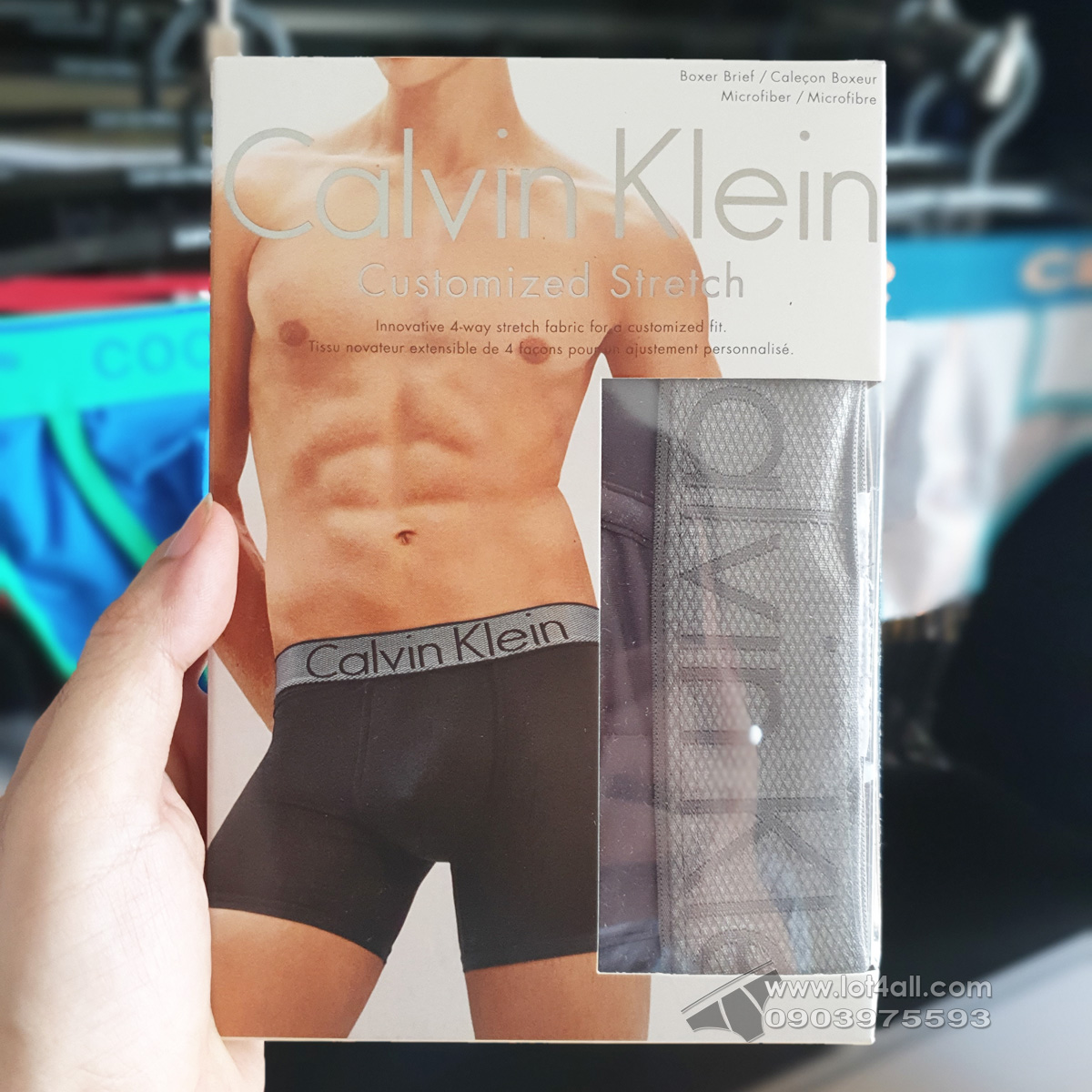 Quần lót nam Calvin Klein NB1296 Customized Stretch Micro Boxer Brief Grey Sky
