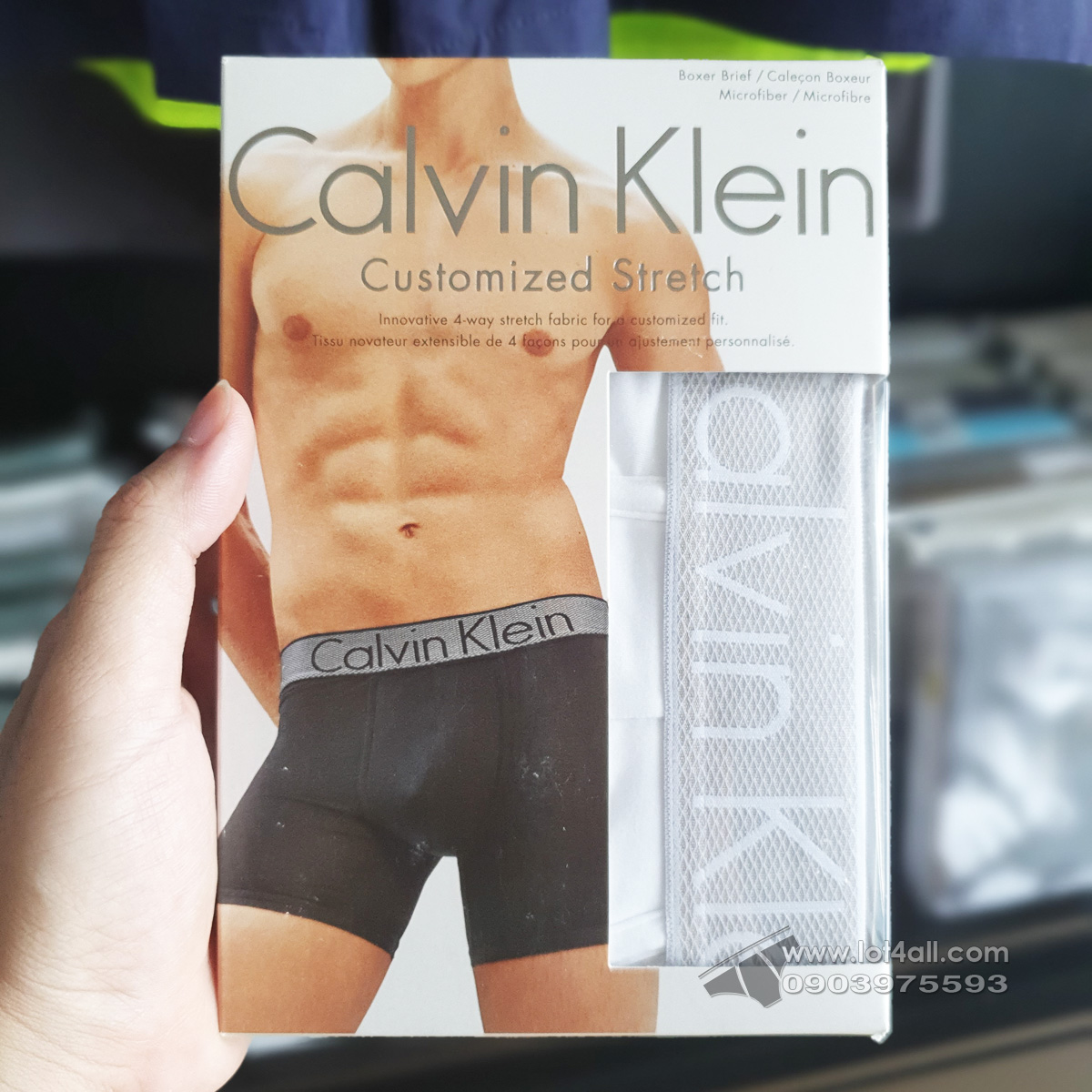 Quần lót nam Calvin Klein NB1296 Customized Stretch Micro Boxer Brief White