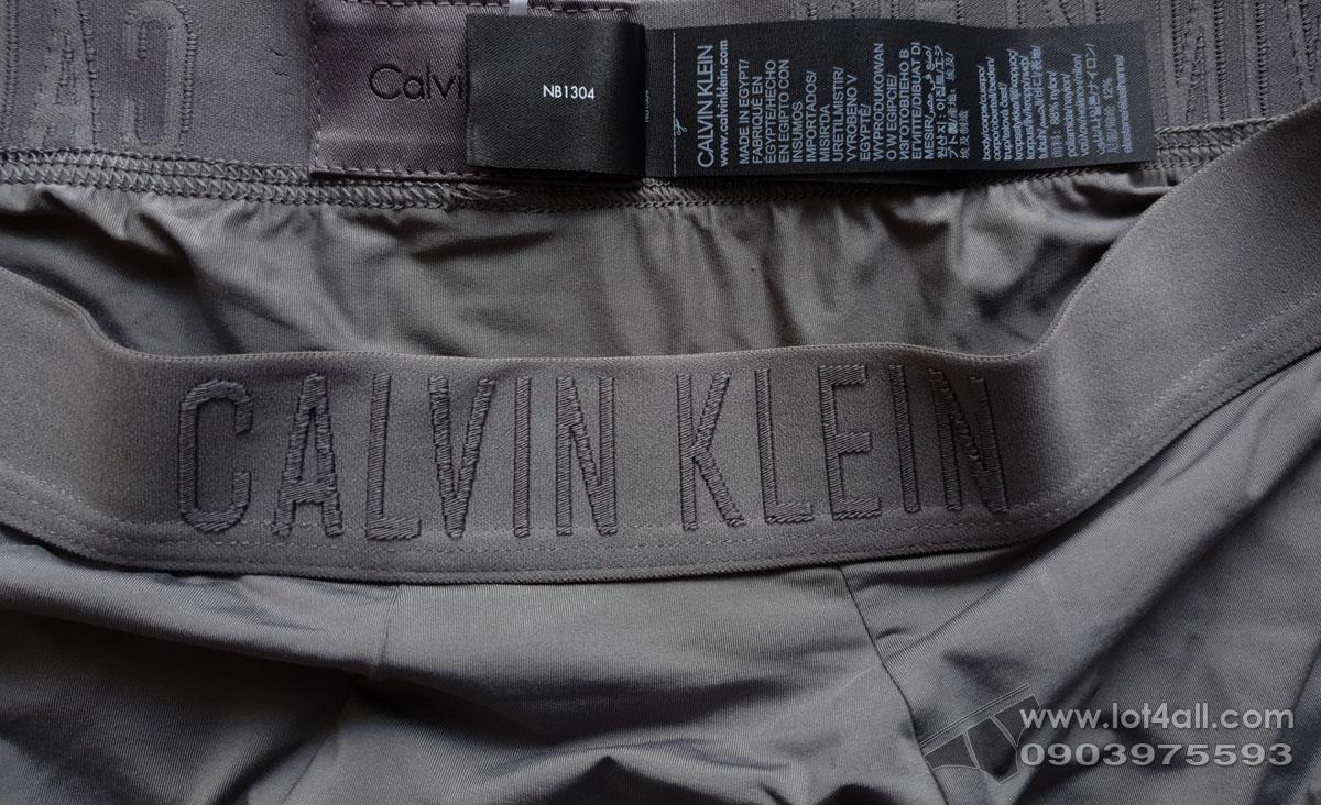 Quần lót nam Calvin Klein NB1304 Black Silky Microfiber Low Rise Trunk Grey Sky