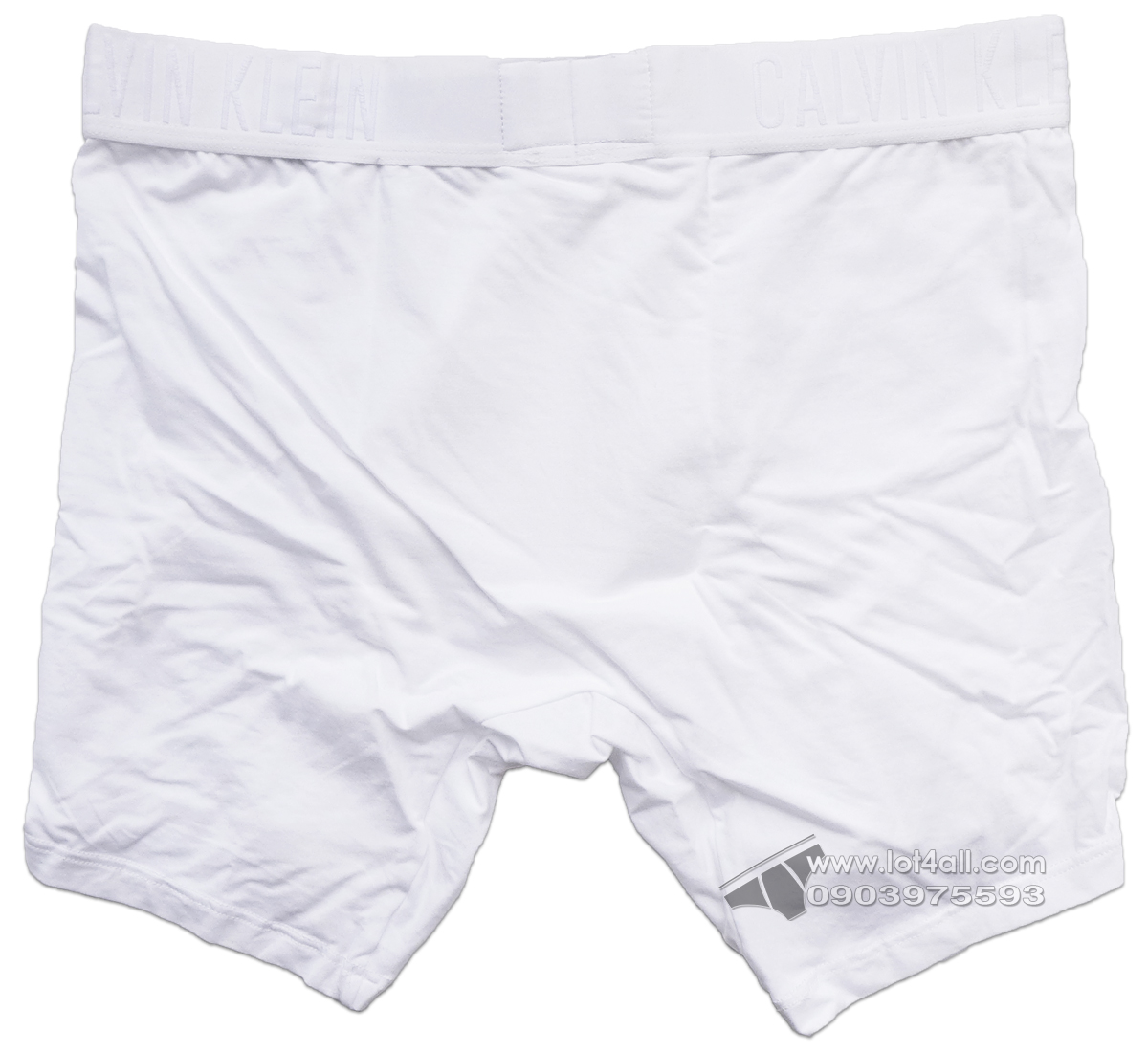 Quần lót nam Calvin Klein NB1308 CK Black Pima Cotton Boxer Brief White