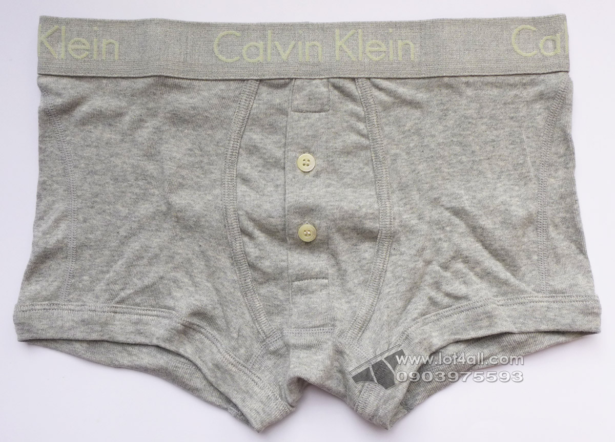 Quần lót nam Calvin Klein NB1479 Body Button Fly Low Rise Trunk Grey Heather