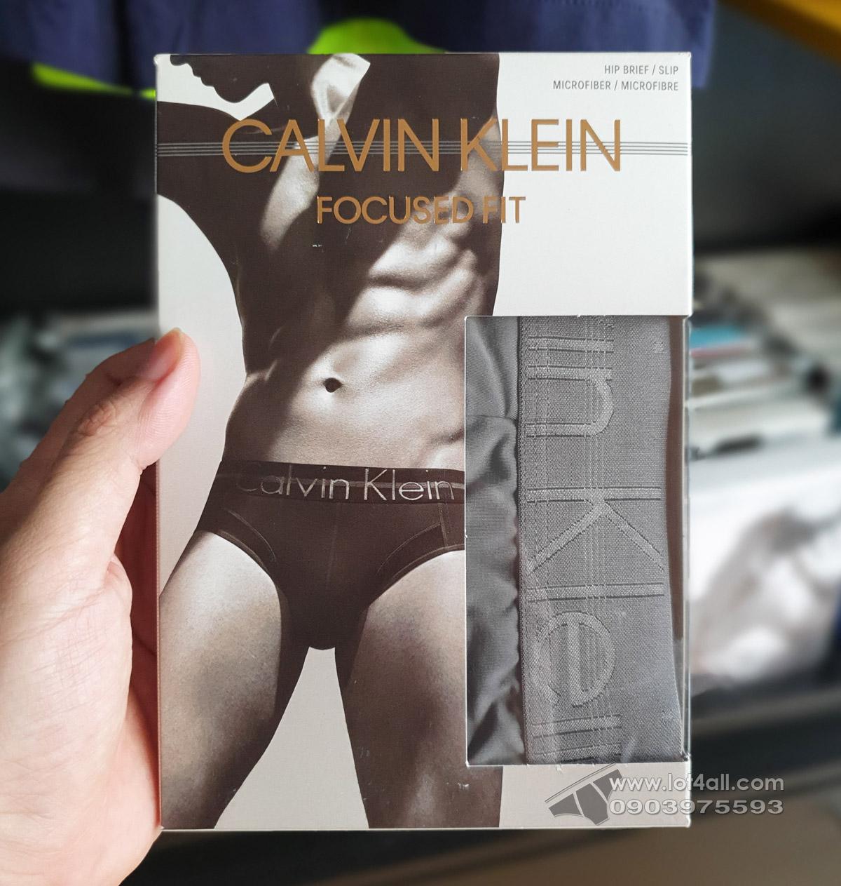 Quần lót nam Calvin Klein NB1485 Focused Fit Micro Hip Brief Grey Sky