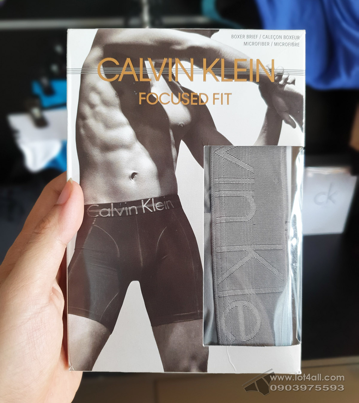 Quần lót nam Calvin Klein NB1487 Focused Fit Micro Boxer Brief Grey Sky