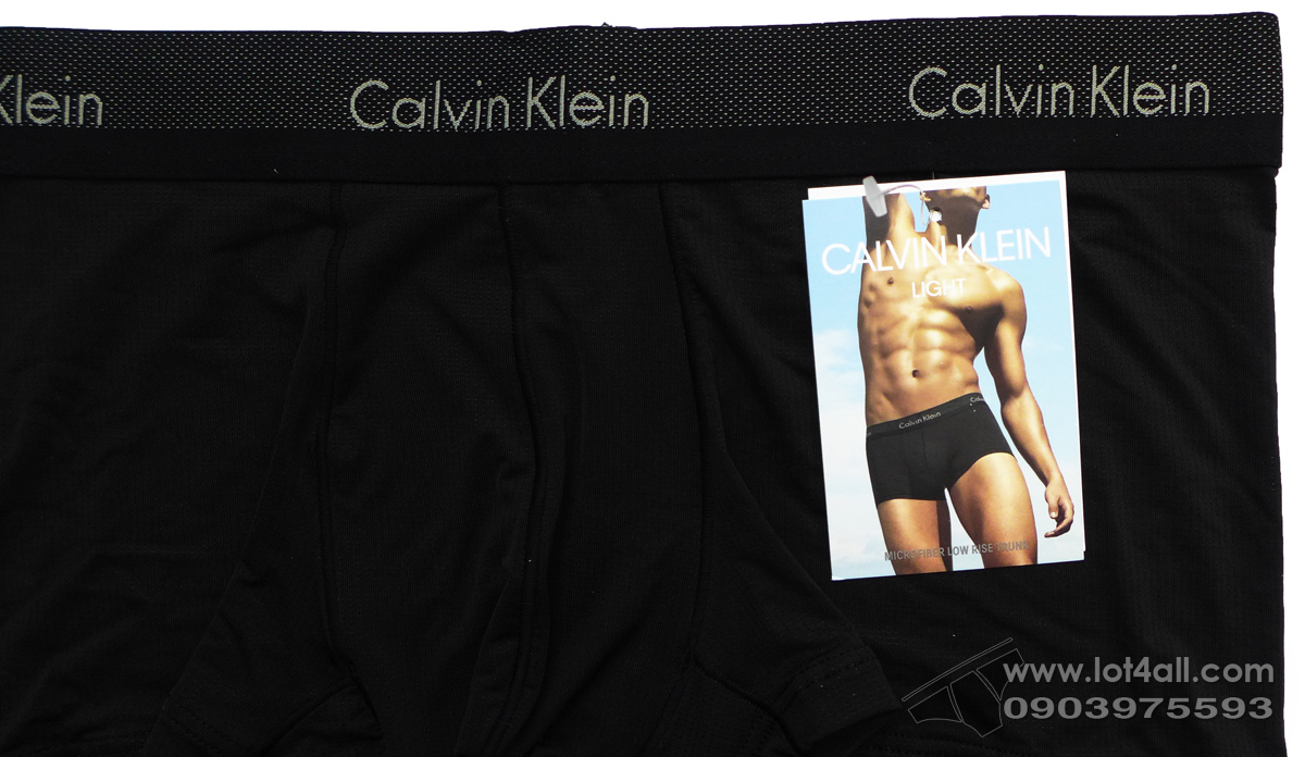 Quần lót nam Calvin Klein NB1497 Light Low Rise Trunk Black