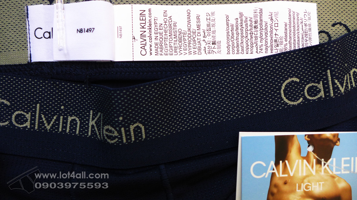 Quần lót nam Calvin Klein NB1497 Light Low Rise Trunk Blue Shadow