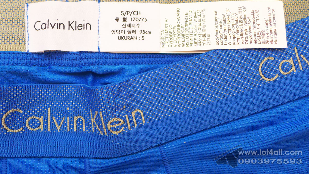 Quần lót nam Calvin Klein NB1497 Light Low Rise Trunk Dover Blue