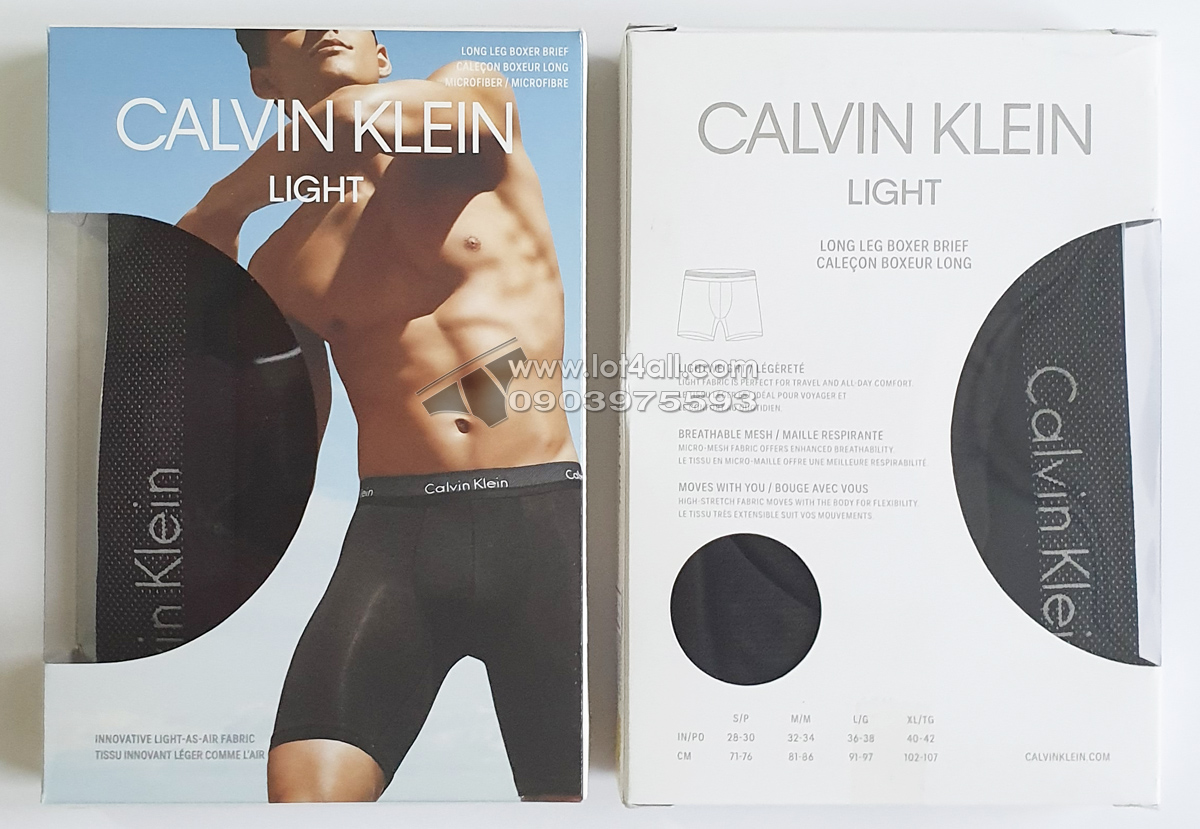 Quần lót nam Calvin Klein NB1498 Light Low Rise Boxer Brief Black