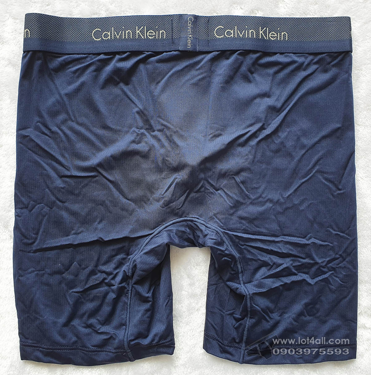 Quần lót nam Calvin Klein NB1498 Light Low Rise Boxer Brief Blue Shadow
