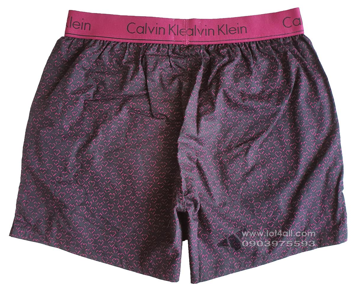 Quần đùi boxer nam Calvin Klein NB1523 Slim Fit Woven Boxer Black