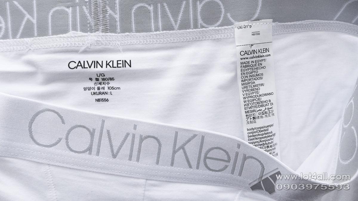 Quần lót Calvin Klein NB1556 Luxe Cotton Modal Trunk White
