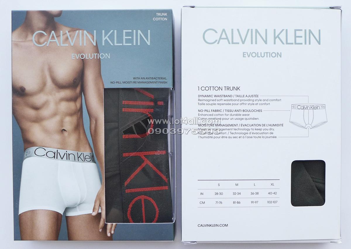 Quần lót Calvin Klein NB1565 Evolution Cotton Trunk Forest Night