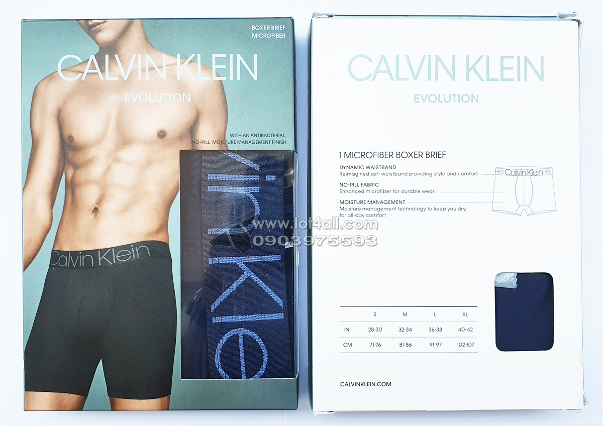 Quần đùi boxer nam Calvin Klein NB1569 Evolution Micro Boxer Brief Blue Shadow