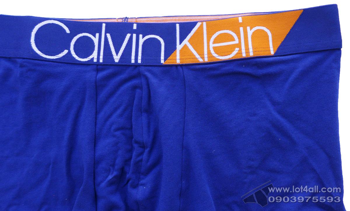Quần lót Calvin Klein NB1680 Bold Accents Cotton Trunk Bright Indigo