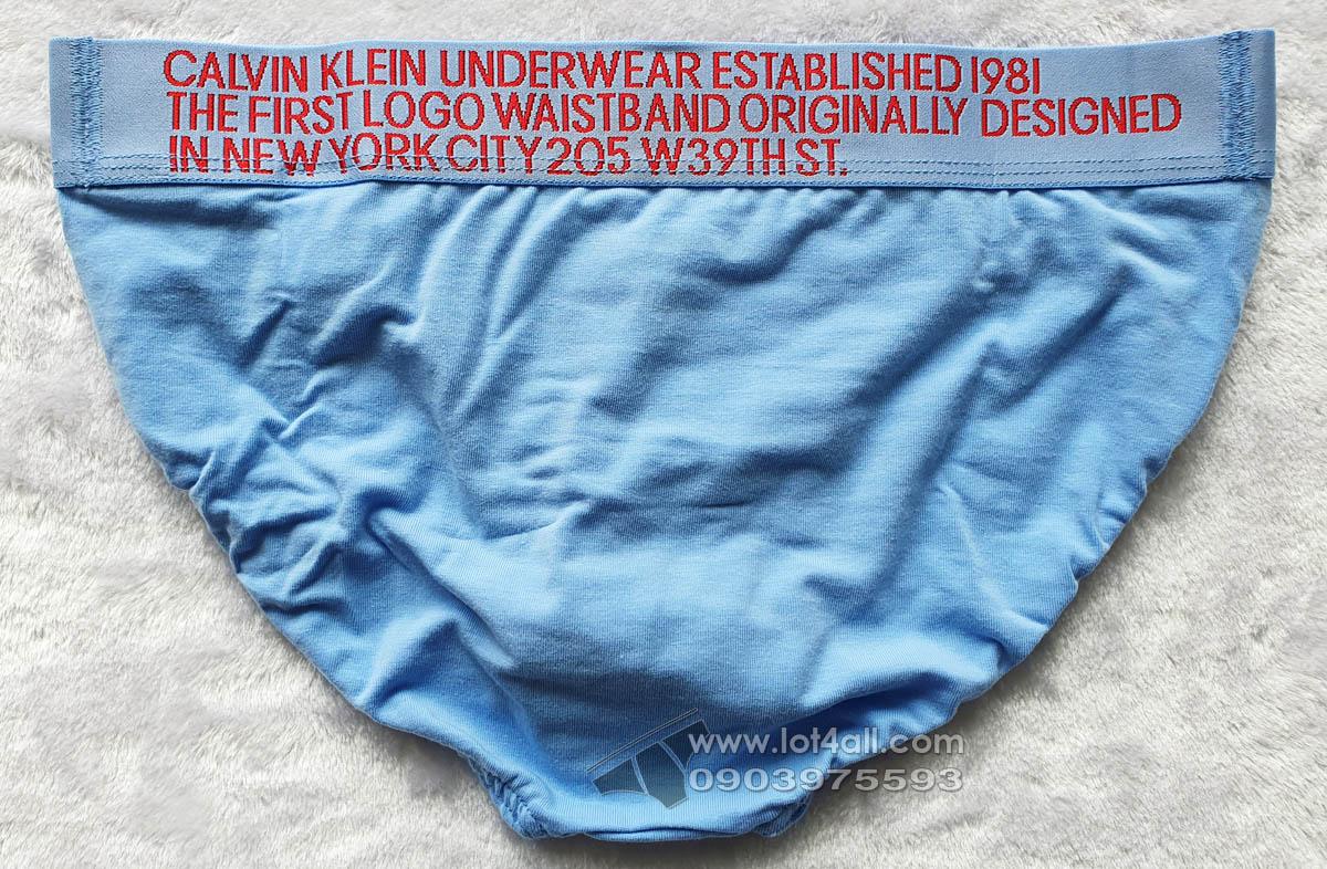 Quần lót nam Calvin Klein NB1712 Statement 1981 Cotton Stretch Hip Brief Blue Ink