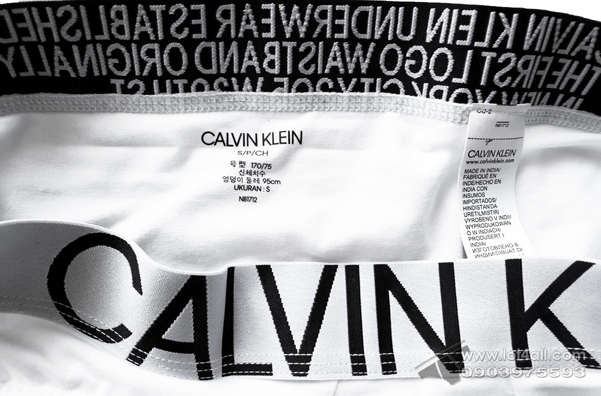 Quần lót nam Calvin Klein NB1712 Statement 1981 Cotton Stretch Hip Brief White
