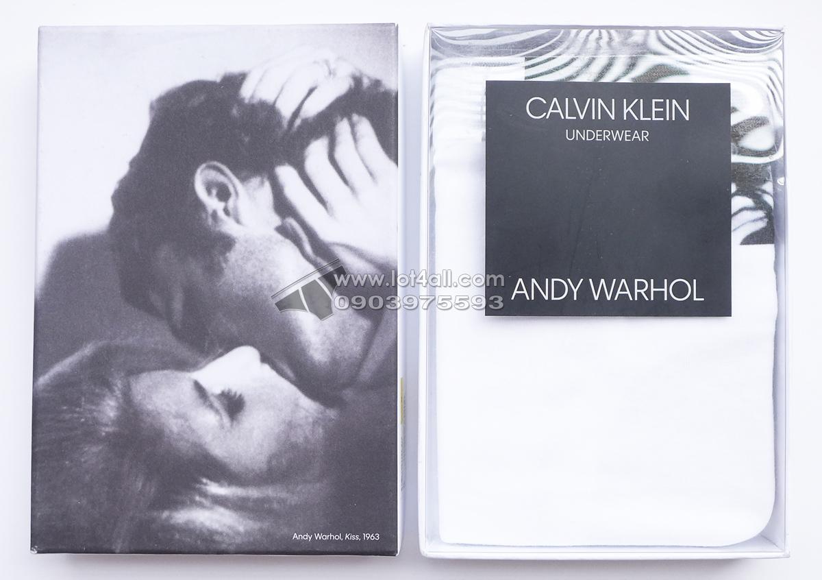 Quần lót Calvin Klein NB1789 Andy Warhol Kiss1 1963 Brief White