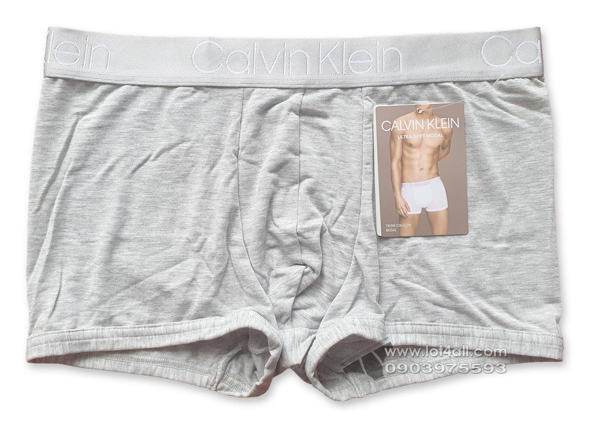 Quần lót nam Calvin Klein NB1796 Ultra Soft Modal Trunk Grey Heather