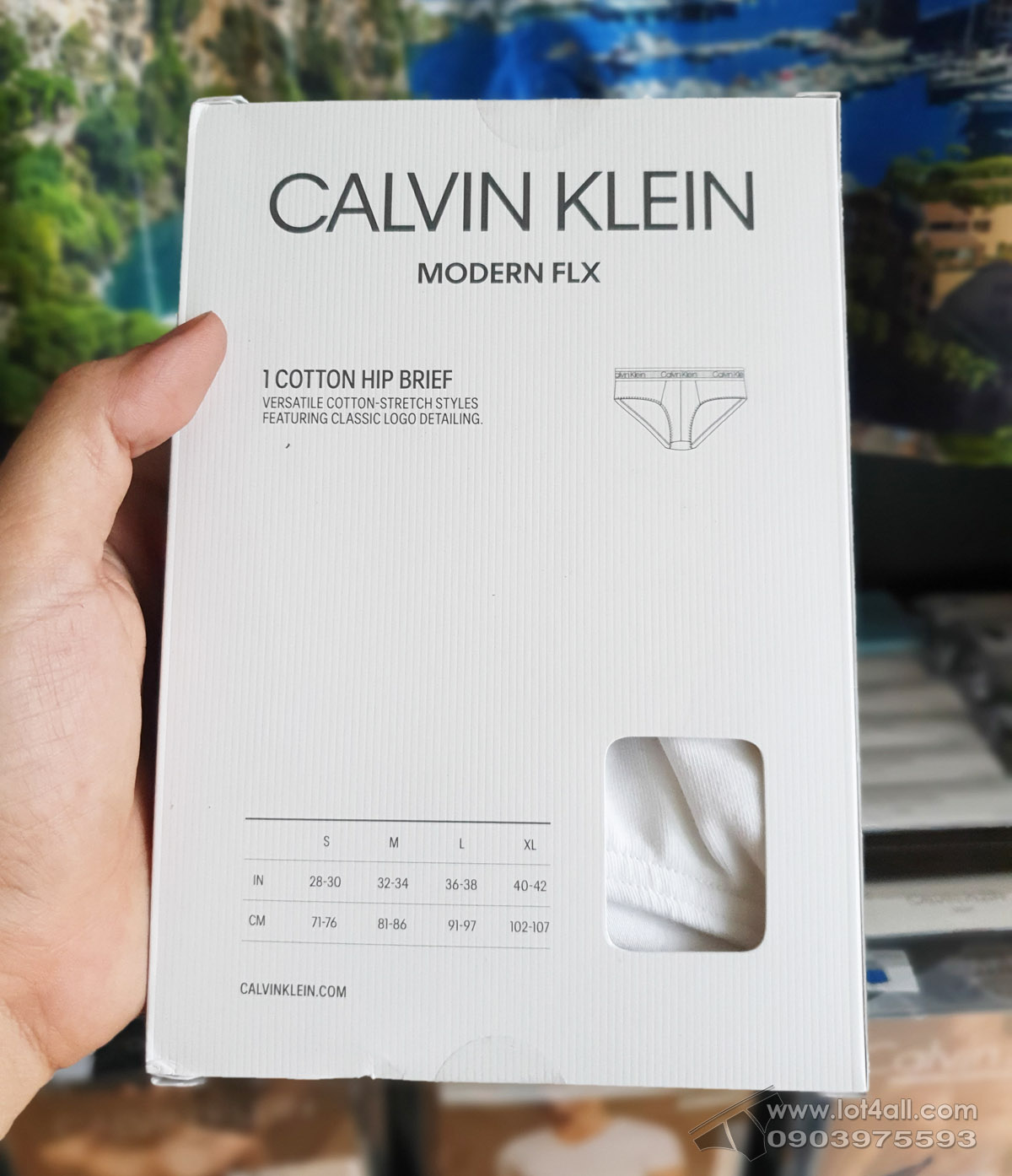 Quần lót nam Calvin Klein NB1882 Modern FLX Cotton Brief White