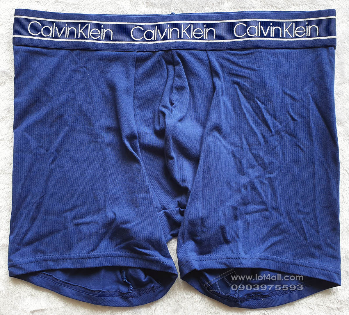 Quần lót nam Calvin Klein NB1884 Modern FLX Cotton Boxer Brief Blue Depth