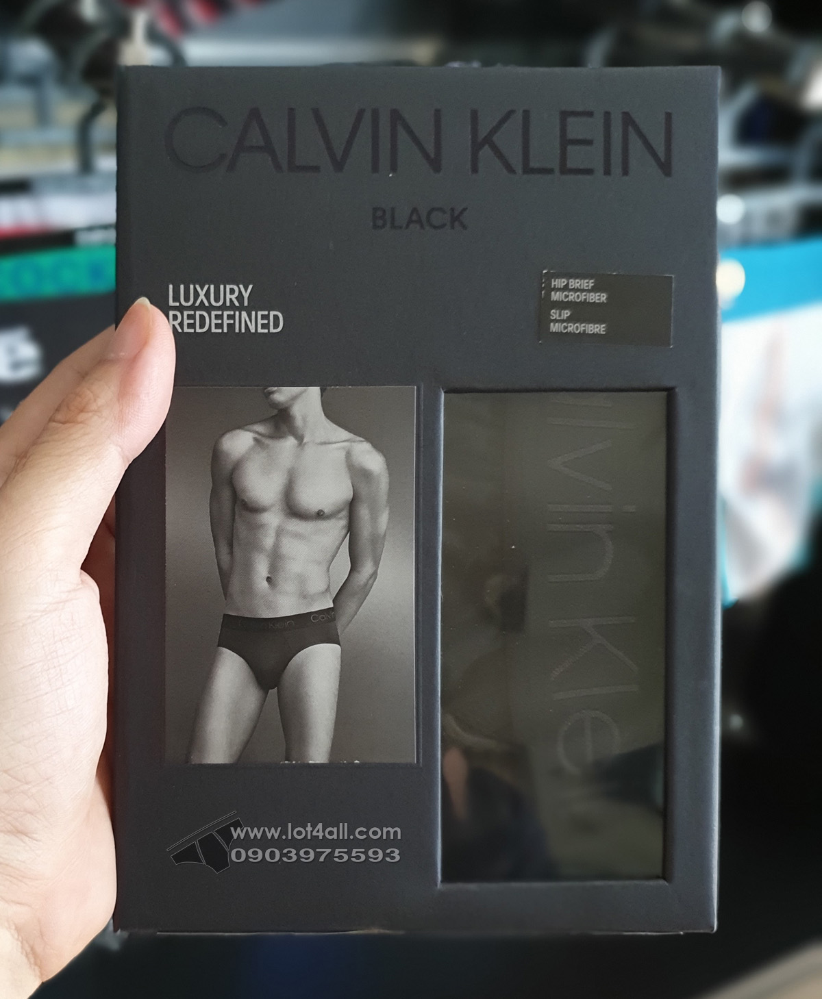 Quần lót nam Calvin Klein NB1928 CK Black Micro Hip Brief Black