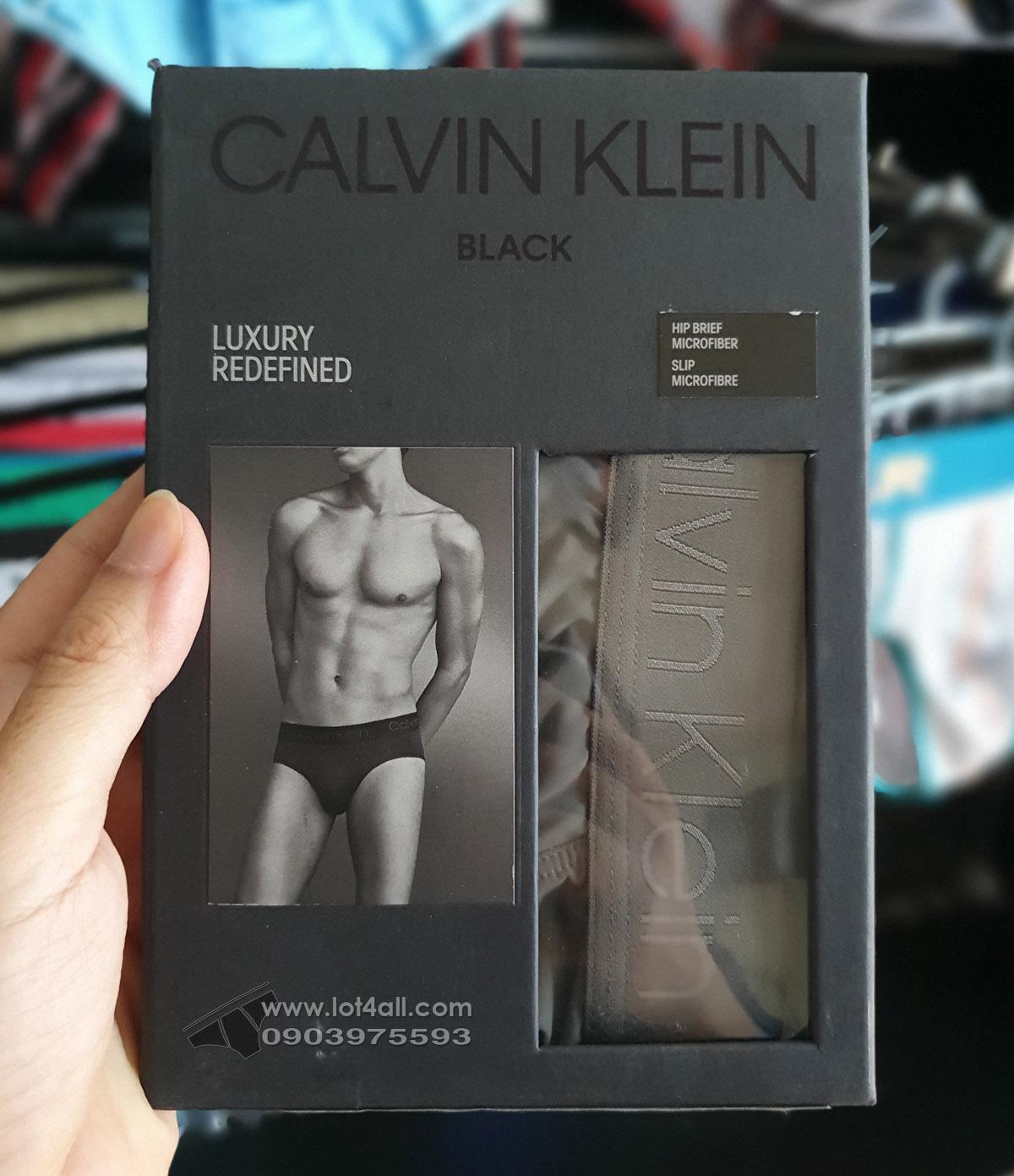 Quần lót nam Calvin Klein NB1928 CK Black Micro Hip Brief Grey Sky
