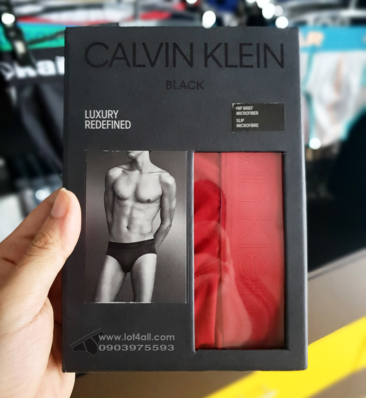 Quần lót nam Calvin Klein NB1928 CK Black Micro Hip Brief Chili Pepper