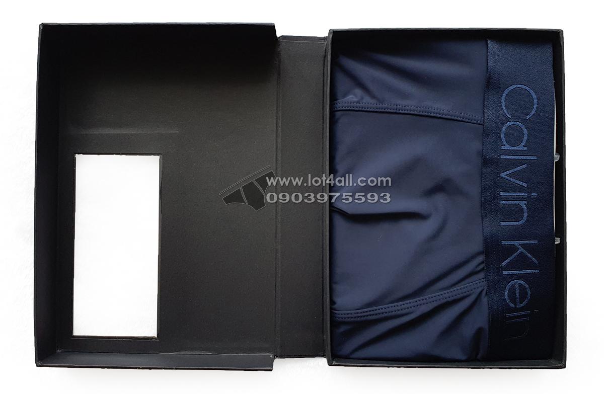 Quần lót nam Calvin Klein NB1929 CK Black Microfiber Low Rise Trunk Navy