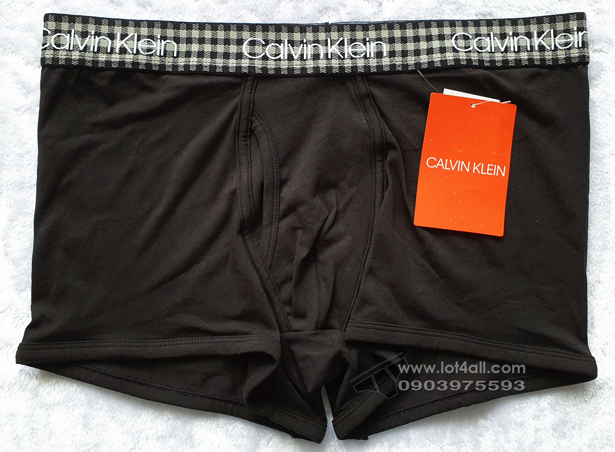 Quần lót nam Calvin Klein NB1992 Buffalo Check Cotton Stretch Trunk Black