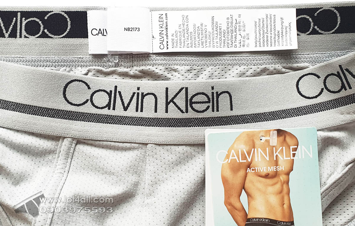 Quần lót nam Calvin Klein NB2173 Active Mesh Micro Brief Jet Grey